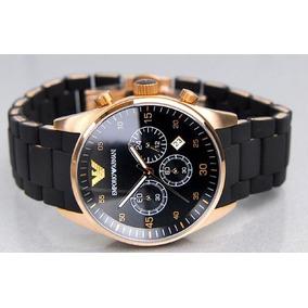 1916eccba46 Relógio Emporio Armani Ar5905 43mm Ouro Rose Ar 5905 Preto ...