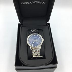 Reloj Emporio Armani Ar1653 Plateado-azul Envi Gratis Hombre