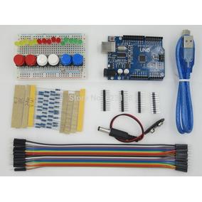 Kit Arduino Uno Smd R3 Iniciante + Protoboard + 81 Pcs!