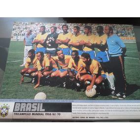 Poster Placar Seleção Brasileir Tri Campeã Copa 1970 21x27cm