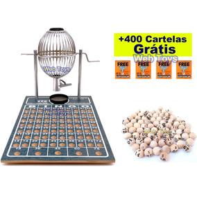 Bingo Nº 1 Cromado Completo 75 Bolas + 400 Cartelas Grátis!