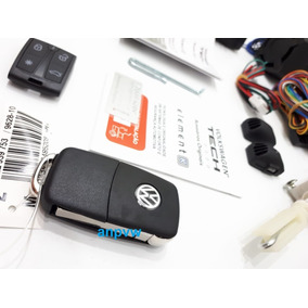 Kit Alarme E Trava P/m Original Canivete Vw Tech Gol Voyage