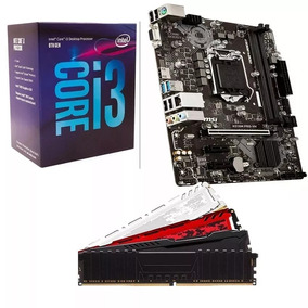 Kit Gamer 8º Geração Intel Core I3 8100 + H310m + 4gb Ddr4