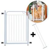 Grade Portão De Segurança P/ Porta Com 2 Extensores De 10 Cm