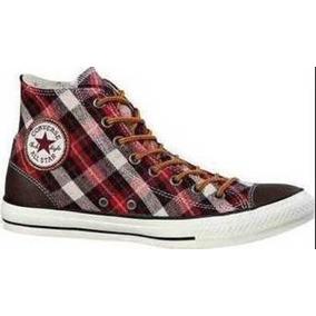 2276bfae1 Converse Chuck Taylor Escoces Y Piel Skate Chocolate red