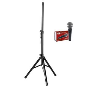 Suporte Staner + Microfone Mxt M-58 C/ 3 Metros De Cabo