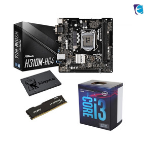 Kit Intel Core I3 8100 Asrock H310m Hg4 8gb Fury Ssd120 I