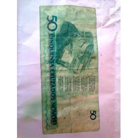 Nota De 50 Cruzeiros Antiga Muito Rara