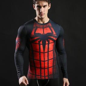 Camiseta Compressao Uv Dry Fit 3d Fitness Herois Marvel Dc