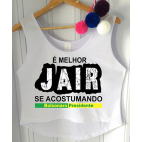 Blusa Bolsonaro Presidente Feminina - Camisetas e Blusas Regatas ... 6655a5e0c7f
