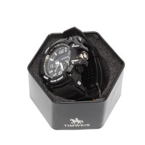 Relógio Shock Esportivo Militar Preto/branco Prova D