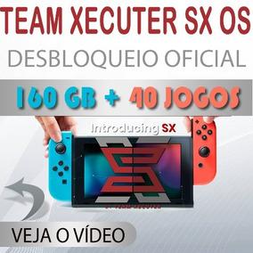 Nintendo Switch 160 Gb + 40 Jogos Destravado Sx Os Xecuter