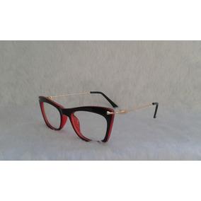 60e3822c40e3f Armacao De Oculos De Grau Feminina Case Luxo - Óculos Preto no ...