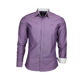 cd12fc0493 Camisa Casual Manga Longa Tamanho M M Masculinas Violeta no Mercado ...