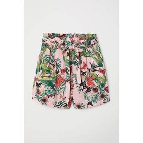 Shorts Mujer Rosa Tropical Ropa Mujer Primavera/verano Sexy