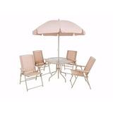 Conjunto Malibu Bege Cadeira Para Jardim 6 Peças Mor
