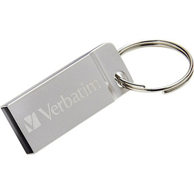 Memoria Flash Usb Metal 16 Gb Plateada Verbatim 98748