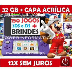 New Nintendo 2ds Xl + 150 Jogos + 32gb + Capa Acrílica