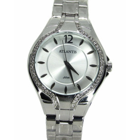 7cf53a6f03c Relógio Atlantis Feminino Fundo Branco Cor Cobre - Relógios De Pulso ...