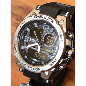 Relógio Aço Steel Top Masculino Analógico E Digital + Caixa