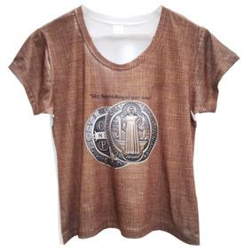 9cf394171d Camiseta Gospel Santo Bento Baby Look Feminina Branca