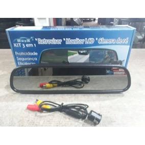 Tela Retrovisor Monitor Lcd 4.3 Com Camera De Ré Rayx