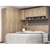 Dormitório De Casal 8 Portas Modena Nogal Touch Lc Móveis