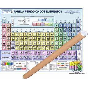 Mapa Tabela Periódica Elemento 118 Químico 120x90cm Enrolado