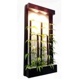Jardinera Colgante De Bambu (artificial)