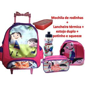 Kit Mochila Show Da Luna Infantil Escolar Rodinhas Feminina