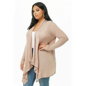 Forever 21 Plus Size Sweater Abierto Cardigan Beige Cafe 4xl