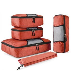Orange - 5 X Viaje Almacenamiento Bolsas Ropa Set Cubo -5653