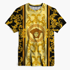 Camiseta Unissex Versace Swag Gucci Outfit Lean Supreme Gold