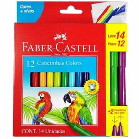 Canetinha Hidrográfica Vai E Vem 24 Cores Faber Castell