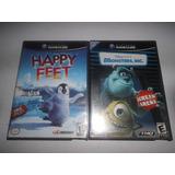 Juegos Para Nintendo Gamecube, Happy Feet Y Monstes Inc.!!!