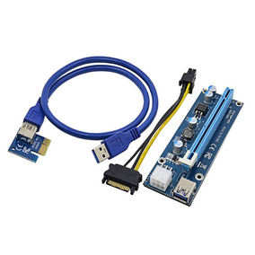Riser Card Ver006c Pci To 16x Mini Pci-e 60cm Usb Cable U34