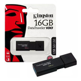 Pendrive Kingston 16gb Dt100 Original Usb 3.0 3.1 Fact A