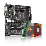 Combo Kit Actualizacion Amd Ryzen 3 2200g + A320 + 8gb Ddr4