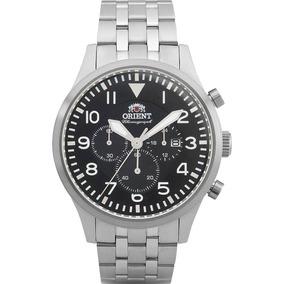 Relógio Masculino Orient Cronógrafo Prata Mbssc118 P2sx