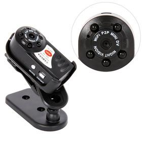 Mini Câmera Ip Q7 Wi-fi Spycam Espiã Cftv Visão Noturna Dvr