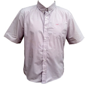 Camisa Masculina Manga Curta King Farm Xadrez Rosa/branco