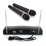 Set Microfono Inalambrico De Mano Karaoke Profesional 30 Mts