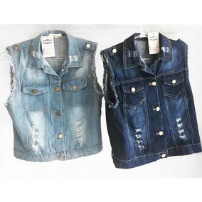 08c86e8837 Colete Jeans - Coletes Femininas Azul marinho no Mercado Livre Brasil