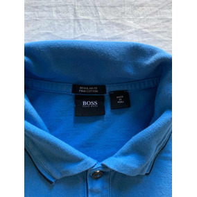 cd34e4d91a4 Camisa Polo Hugo Boss Azul Xl Regular Fit Pimma Cotton