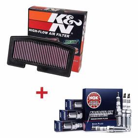 Kit Filtro De Ar K&n + Velas Iridium Ngk Street Triple 675