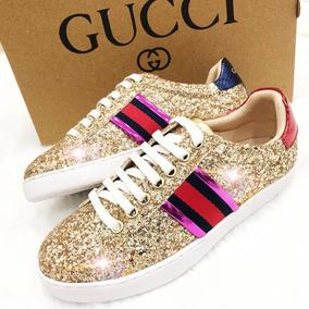 Zapatos Mujer Gucci Brillantes Excelente Calidad Elegantes 1abe3444226