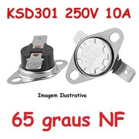 Termostato Ksd301 65 Graus 250v 10a - Normal Fechado Nf Nc