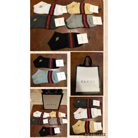 Calcetín Gucci Unisex Abeja 5 Pares Incluye Shopping Bag