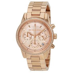 750f96a582798 Relógio Michael Kors Mk3640 Feminino 37 Mm Dourado - Relógios De ...