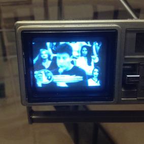 Mini Tv E Rádio Am/fm Quartz Clock. Sanyo. Coleção Japan